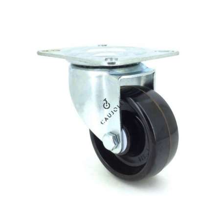 Castor wheel high temperatures 270° 80 mm diameter with swivel plate phenolic resin roller
