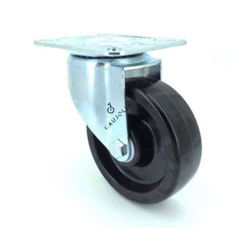 Castor wheel high temperatures 270° 100 mm diameter with swivel plate phenolic resin roller 1