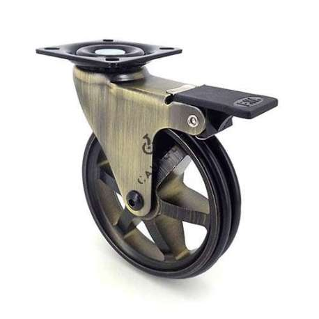 Retro design castor wheel GOLD'STYL 100PAF