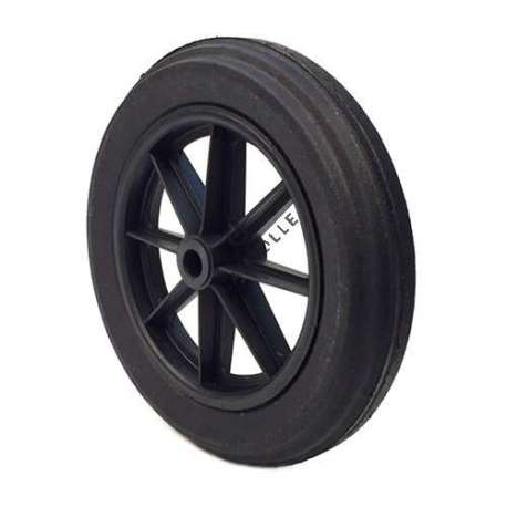 PUNCTURE-PROOF HARD RUBBER WHEELBARROW WHEEL 400 MM DIAMETER 25 MM BORE 74 MM LARGE R25-74