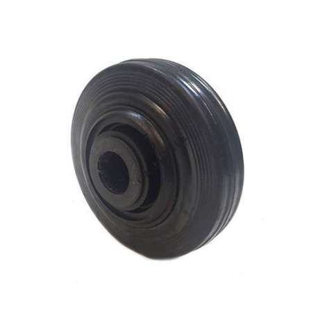 INDUSTRIAL USAGE RUBBER WHEEL 125 MM DIAMETER 25 MM BORE S2000PC