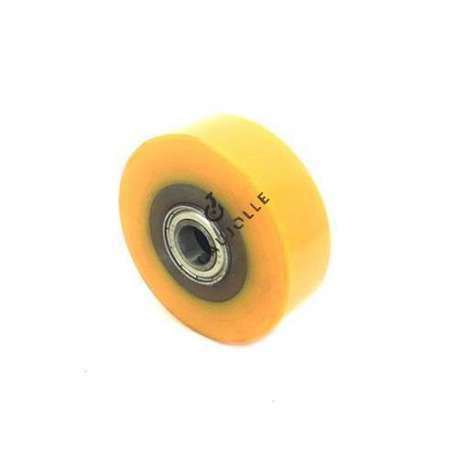 TRANSPALLET WHEEL 82 MM DIAMETER 28 MM LARGE 15 MM BORE