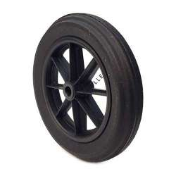 PUNCTURE-PROOF HARD RUBBER WHEELBARROW WHEEL 400 MM DIAMETER 25 MM BORE 74 MM LARGE L25-74