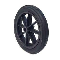 PUNCTURE-PROOF HARD RUBBER WHEELBARROW WHEEL 360 MM DIAMETER 25 MM BORE 74 MM LARGE L25-74