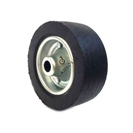 WIDE RUBBER WHEEL 200 MM DIAMETER 25 MM BORE 2750ST