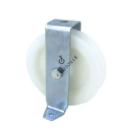 BRACKET PULLEY IN NYLON 100 MM DIAMETER