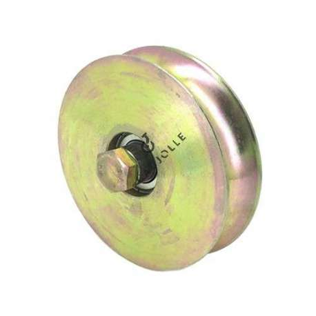 NARROW DOOR ROLLER WITH ROUND HORN 120 MM DIAMETER