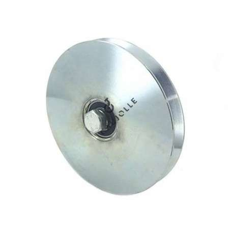 Steel rollers thin triangular groove for door 160 mm diameter