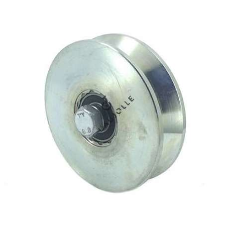 LARGE GROOVED DOOR ROLLER TRIANGULAR 120 MM DIAMETER