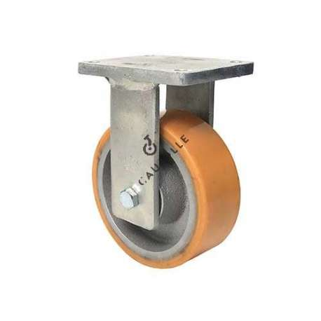 FIXED CAST IRON AND POLYURETHANE CASTER 1400 KG DIAMETR 200 MM - STEC 200F