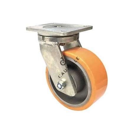 PIVOTING CAST IRON POLYURETHANE CASTER MAX LOAD 1400 KG DIAMETER 200 MM - STEC 200PIV