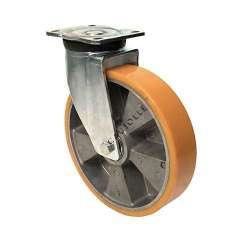 Swivel castor polyurethane with aluminium hub diameter 250 mm max load 1000 kg - S78AR 250