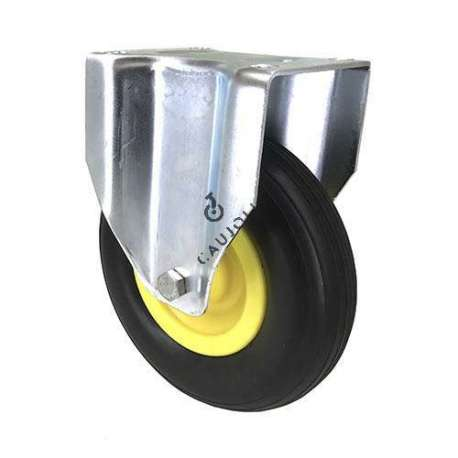 SUPPLE PUNCTURE-PROOF FIXED CASTOR FOR GRAVEL DIAMETER 200 MM